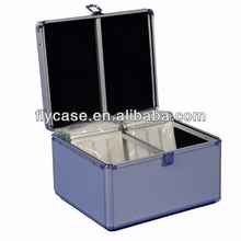 Hot sale aluminum CD/DVD carrying case portable hard aluminum cases