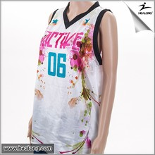OEM cool fit design basketball shirt basketball short sleeved jersey