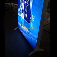Outdoor Double Sided Advertising Display Free Standing Fabric Light Box, Fabric Led Signs, Trade Show Textile Light Box