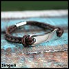 Personalized Engraved Men S Leather Bracelet