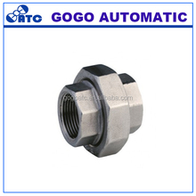 "Ningbo factory hydraulic 304/316 stainless steel female 1""inch BSP/NPT threaded pipe union conical male/male fitting"