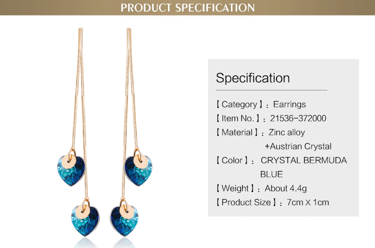 2017 Hot Selling Factory Willow Stud Supply Crystal Earrings Wholesale