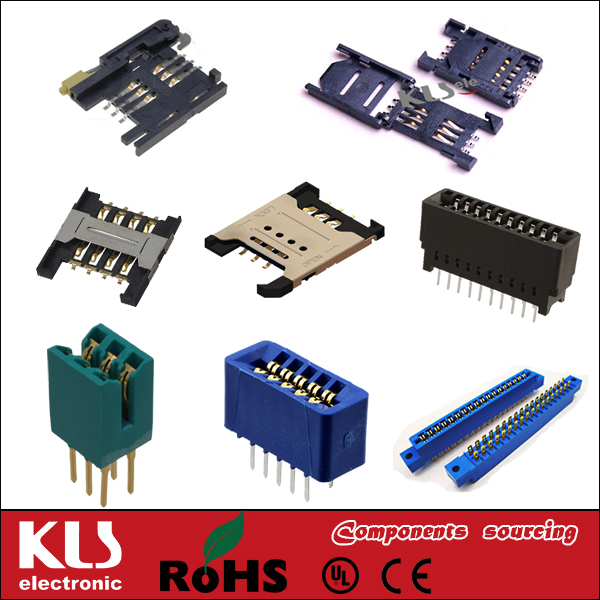 Good quality pcmcia connector dip 90 68p UL CE ROHS KLS brand 374