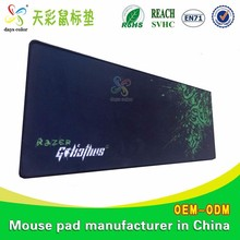 Cute Animal Model Customized Advertising Logo Sublimation Blue Fabric Large Size Gaming Mouse Pad