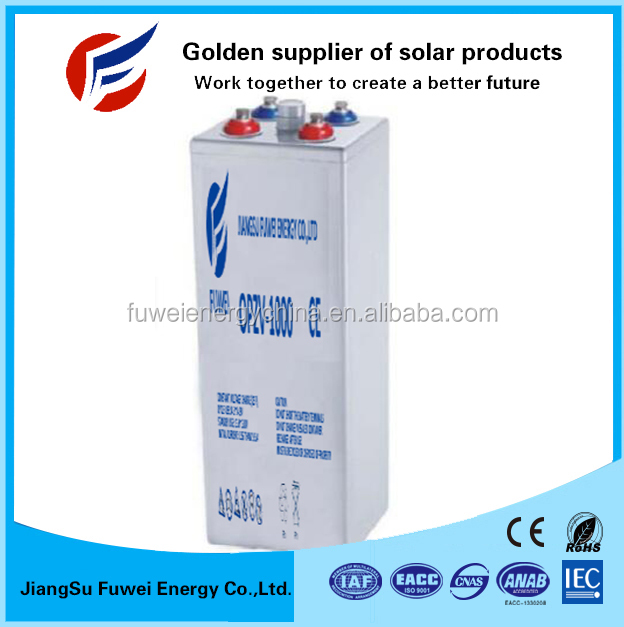 20 Years Design Life High Power Cycles 2v 1000ah Opzv Gel Solar Battery