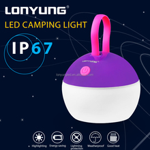 Outdoor Portable Hanging camping equipment Plastic led tent light