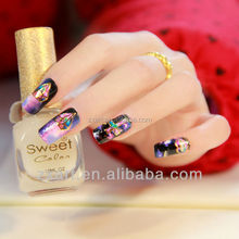 3D metallic gold nail wraps nail make up sticker Gradient color starry sky party nail sticker