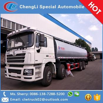 China famous chassis Shanxi Delong 8*4 oil tanker truck for sale in Indonesia