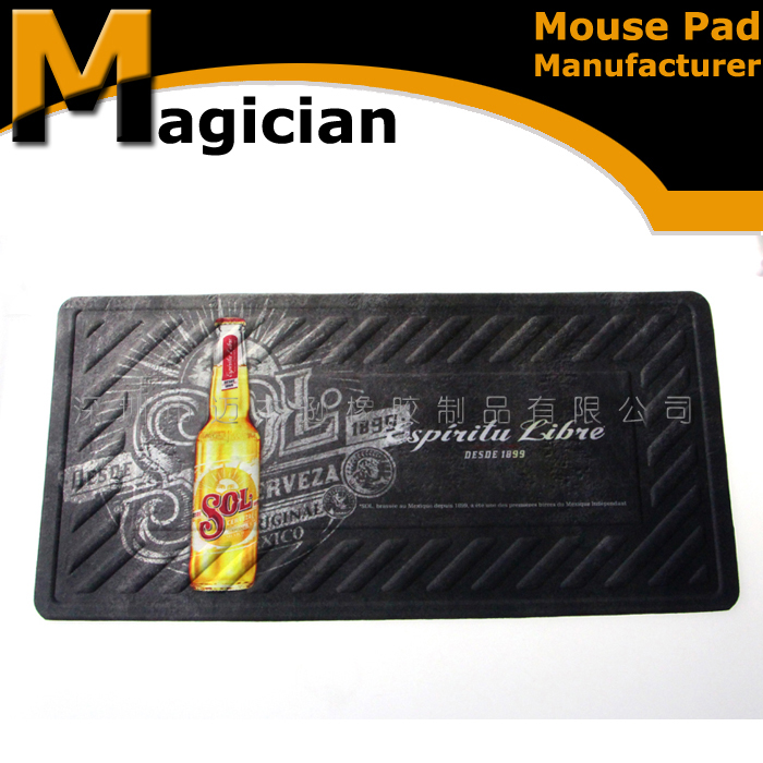 Hot selling custom printing nitrile rubber bar mat