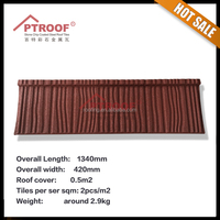 2016 promotion item stone coated metal roof tile - shake tile in brown color