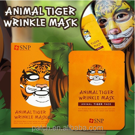 HOT SALE!!!!Korea cosmetic SNP ANIMAL TIGER WRINKLE MASK PACK