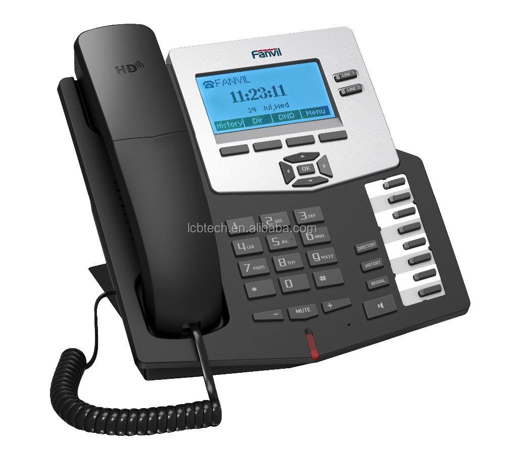POE Available Voip IP Phone/Support SIP 2.0 IP Phone Fanvil C60 with CE ROHS certification