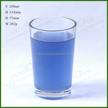 wholesale drinking glass 250ml standard size
