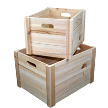 China saupplier fumigation of wood packing crates, natural finished lightweight wooden fruit crates for sale