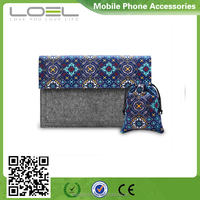 laptop felt with canvas bag for macbook carrying sleeve