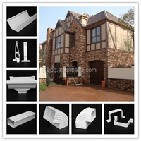 pvc square gutter for house