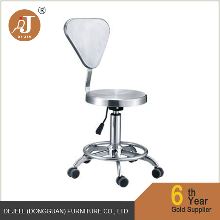 Wholesale Premium Movable Round Stainless Steel Kitchen Chair With Wheel