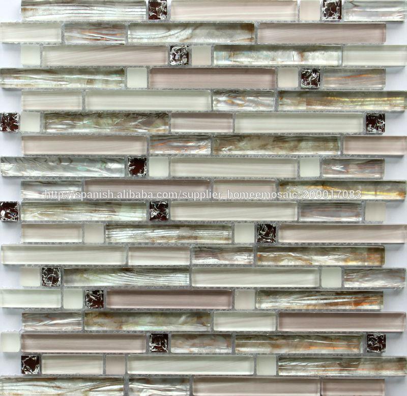 Moderna cocina de piedra decorativa de la mezcla de vidrio for Cocinas con piedras decorativas
