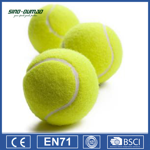 Sports Compaign Customized Logo White Tennis Balls Sale