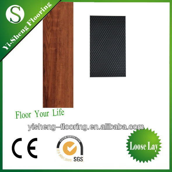 hot sale high quality loose lay pvc home depot floors