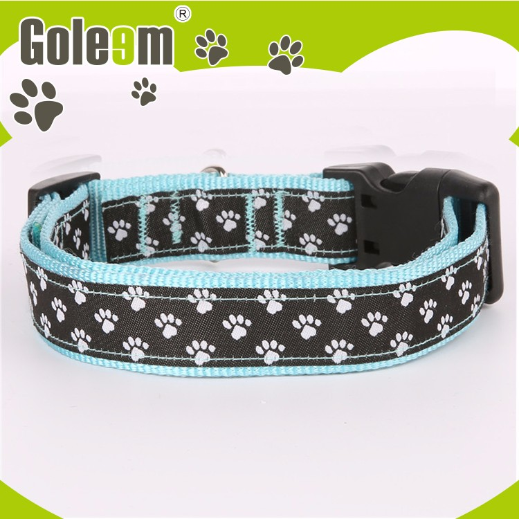 Latest Design China Oem Manufacturer Durable Polyester Satin Woven Dog Collar And Leash