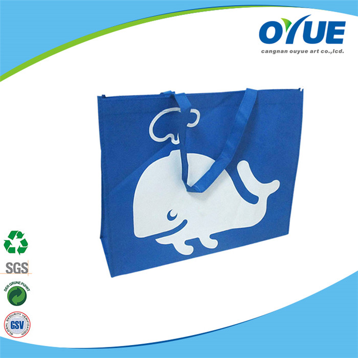 Excellent quality low price supply blue color non woven shopping bag