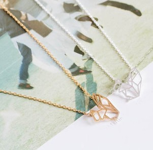 Tiny Mermaid Layers Pendent Necklace