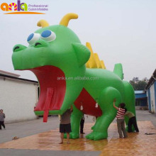 Chinese dragon figure type giant green inflatable zenith dragon