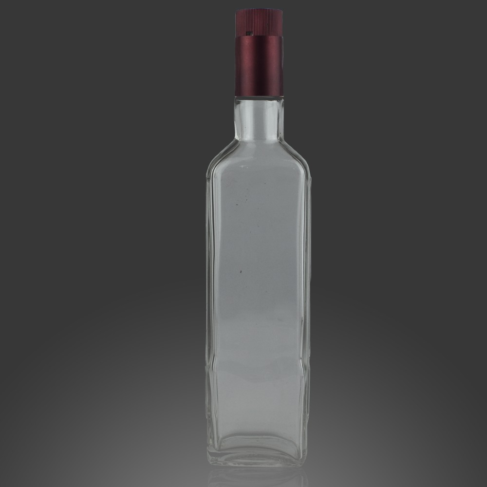 Cheapest square glass bottle 375ml square wine spirit whisky bottle 750ml