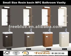 Small Size Resin basin MFC Bathroom Vanity