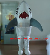 Life size sea animal mascot shark with clear visual fit all adult shark mascot