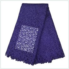 top design high quality purple african cord lace/latest design french guipure lace fabric SD2015083022