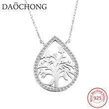 New trendy channel fashion jewelry 925 silver tree shape necklace