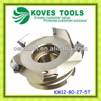 KM 45 degree face mill milling cutter cnc milling machine
