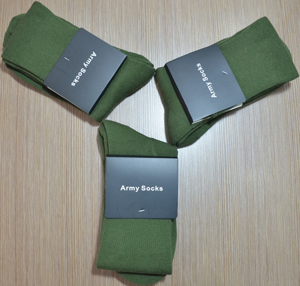 Hot 80%cotton, 20%spandex Terry cushioned army socks