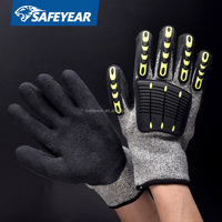 HDPE cut level 5 kevlar cut resistant gloves, gloves latex, mechanic gloves