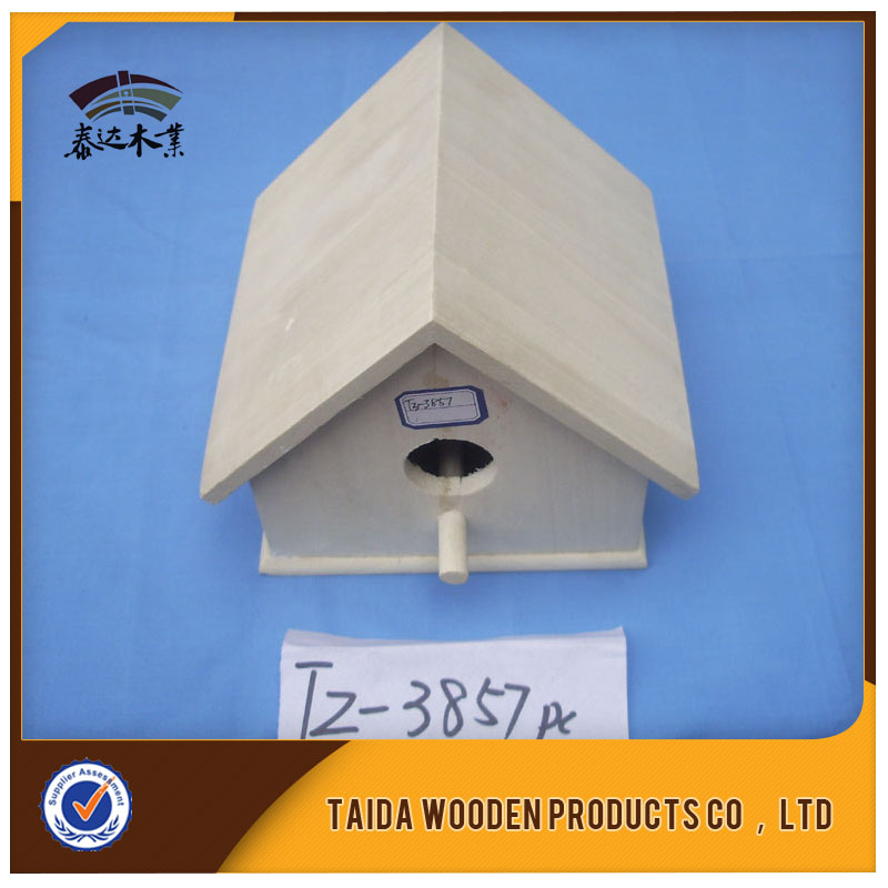 Cooperation Cheap Hanging Wooden Bird Feeder And House