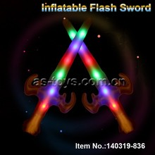 OEM colorful inflatable led flashing sword toys for children