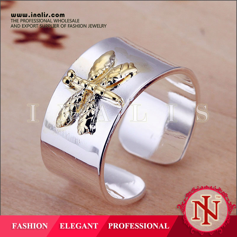 New latest gold finger ring jewelry butterfly designs R011