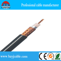 RG-6/U Coaxial Cable 64% Braided double color PVC jacket for Philippines Market,kablo manufacturer