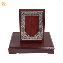 High Quality noble wooden award plaque with base