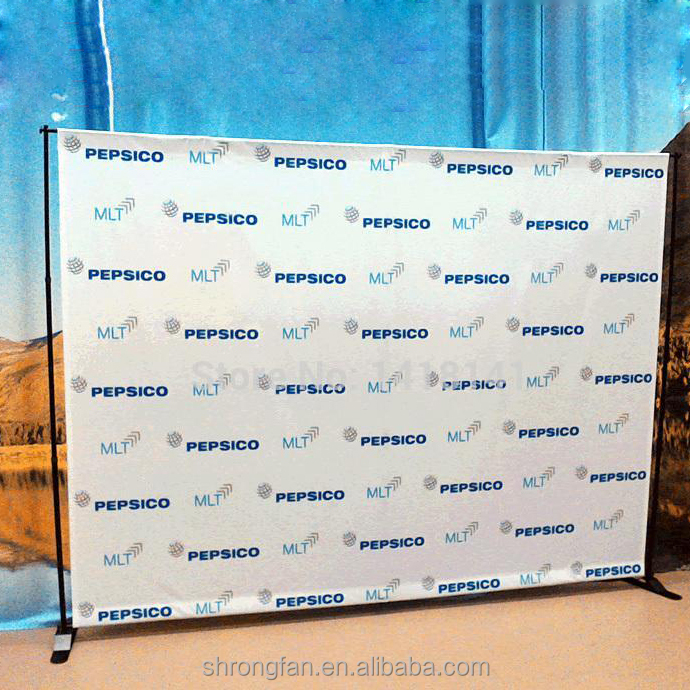 Free standing telescopic backdrop banner stand for exhibition