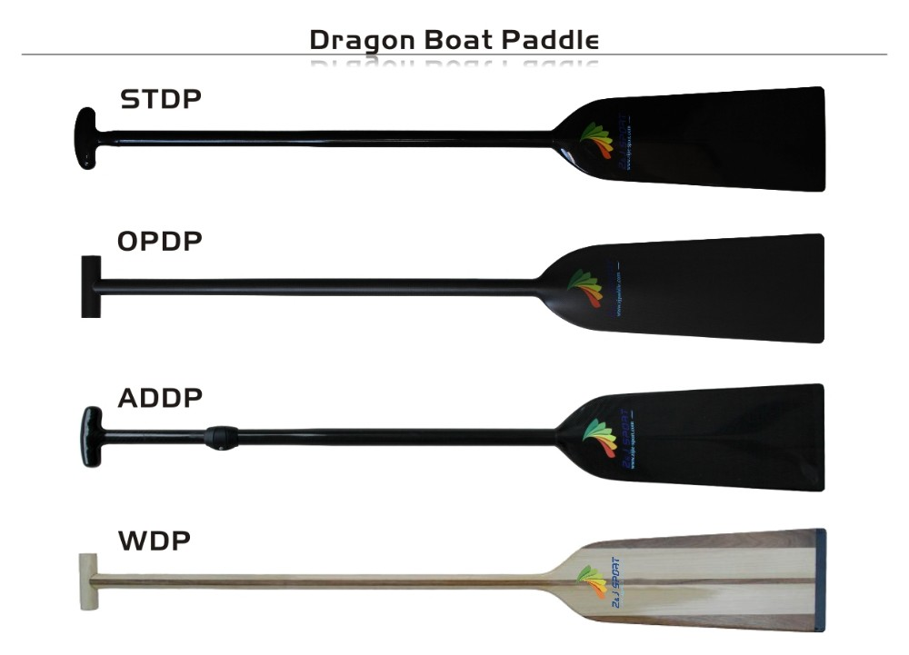 ZJ SPORT High Performance Lightweight IDBF Approved 1-Piece Carbon Fiber Dragon Boat Paddle In Oval Shaft 4 Handles Options
