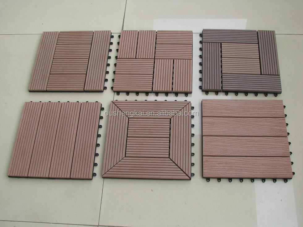 New Material Outdoor WPC DIY Decking Floor Engineered Flooring