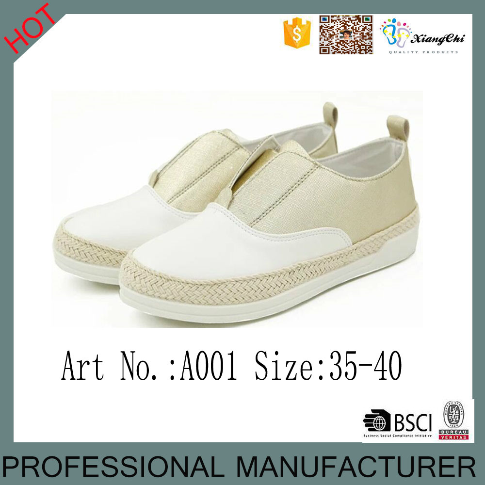 New style women straw shoes for casual lady footwear