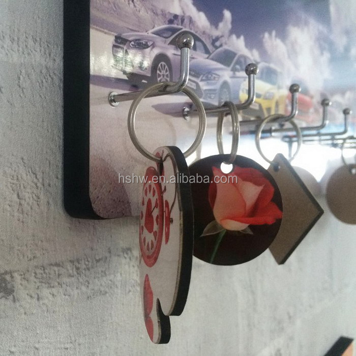 Printed heat press mdf hardboard key hanger