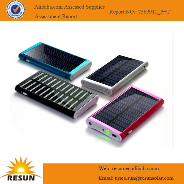 Portable rechargeable solar charger for mobile phone