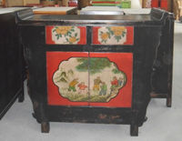 Chinese antique furniture painted praying cabinet LWB868
