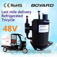 R134A BOYARD 48v 12v dc fridge compressor bldc for bd35f compressor for three wheel car refrigerated tricycle