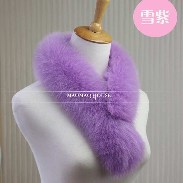 alibaba express detachable red real fox fur collar in women jacket& coat 50cm